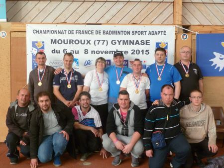 Championnat de France de Badminton Sport Adapte à Mouroux (77) les 6, 7 et 8 novembre 2015